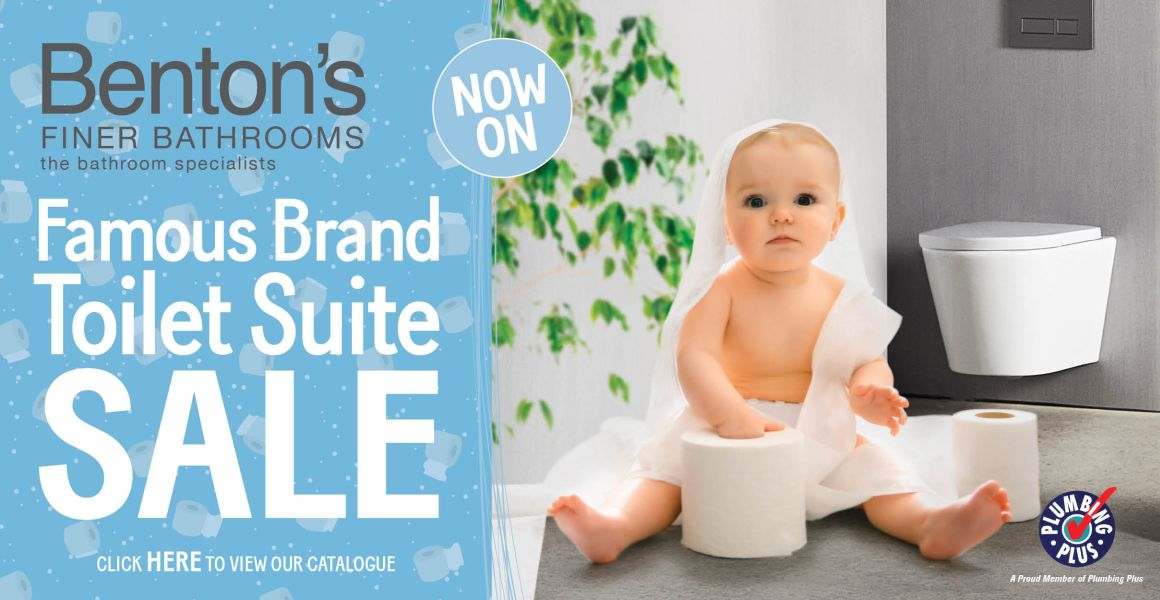 Benton's Finer Bathrooms Famous Brand Toilet Suite Sale