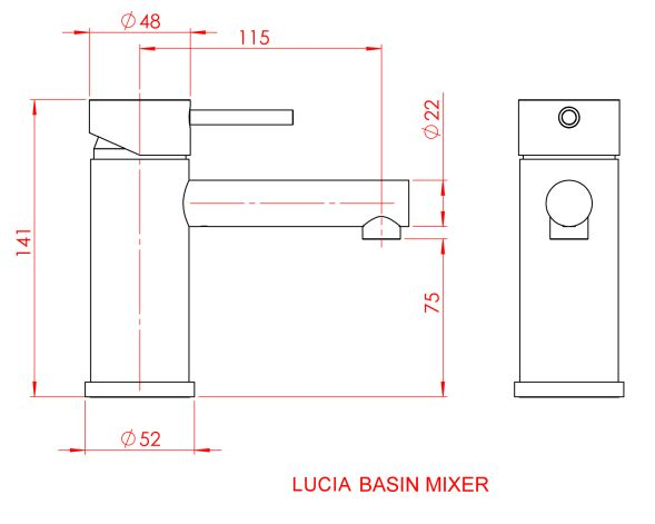 Gareth Ashton Lucia Basin Mixer specifications
