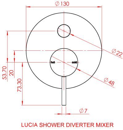 Gareth Ashton Lucia Bath / Shower Mixer Divertor specifications