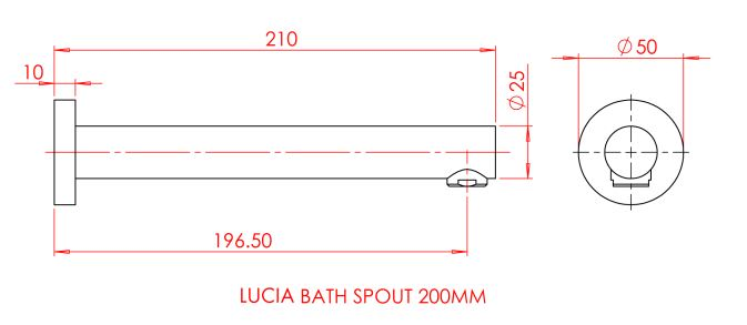 Gareth Ashton Lucia Bath Spout specifications