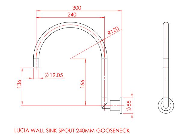 Gareth Ashton Lucia Gooseneck Wall Sink Set specifications