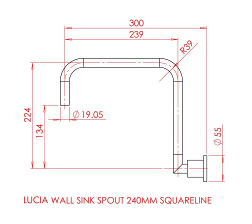 Gareth Ashton Lucia Square Wall Sink Set specifications