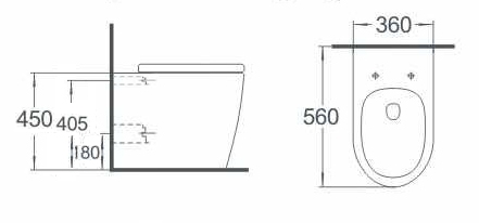 Argent Grace Wall Face Pan and Seat specifications