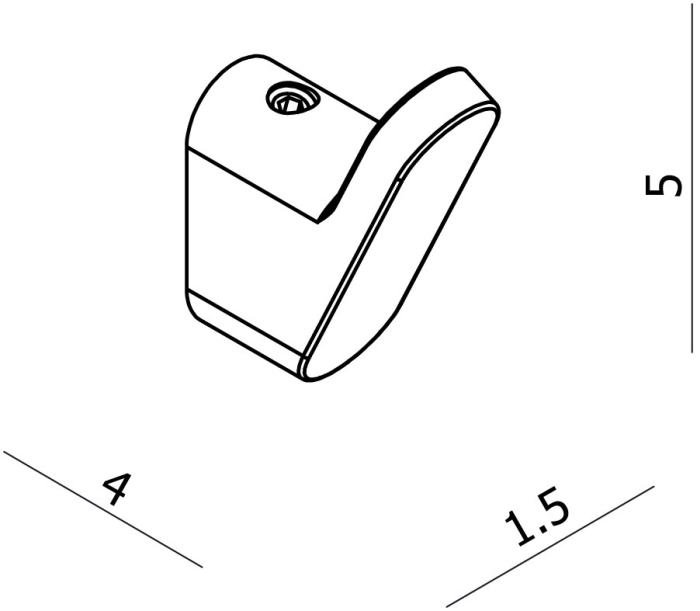 Argent Loft Robe Hook specifications