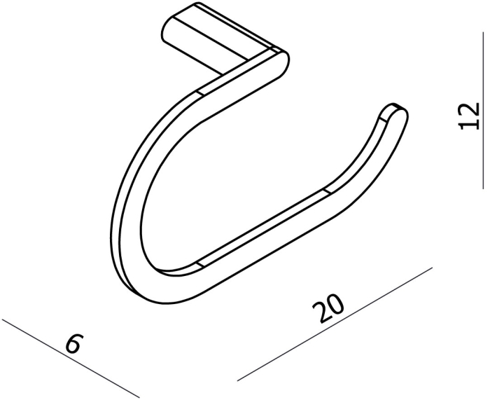 Argent Loft Towel Ring specifications