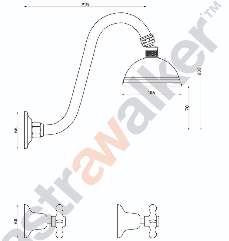 Astra Walker Olde English Shower Set specifications