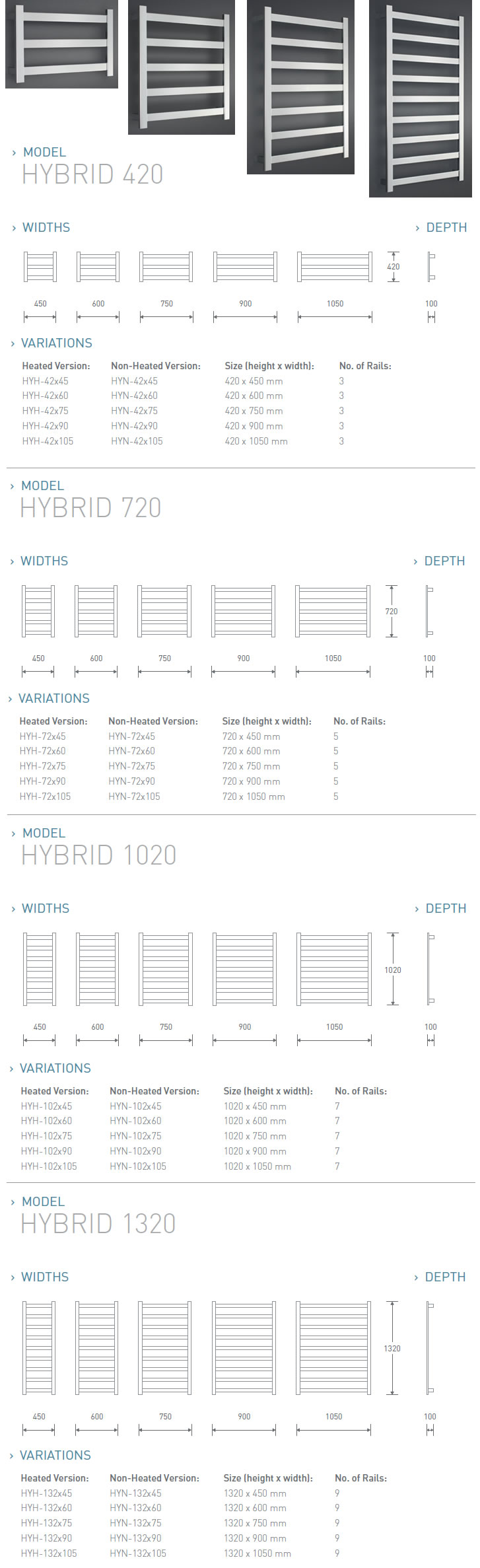 Benton\'s Finer Bathrooms | Avenir Hybrid Heated Towel Rail