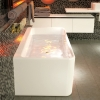 Caroma Cube 1600mm Back to Wall Freestanding Bath