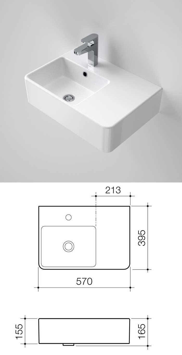 Benton 39 s finer bathrooms caroma cube extension wall basin for Extension cube