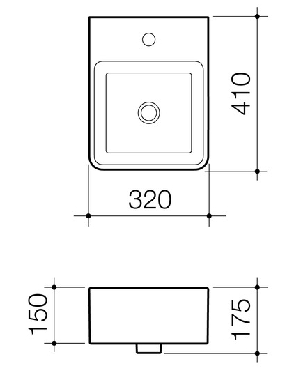 Caroma Cube Wall Basin specifications