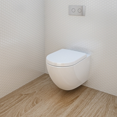 Benton 39 s finer bathrooms caroma urbane wall hung toilet for Studio bagno q series wall faced pan