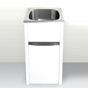 White Laundry Trough : ... Finer Bathrooms Clark Eureka 45L Compact Laundry Trough & Cabinet