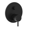 Clark Round Pin Bath / Shower Diverter Mixer Black