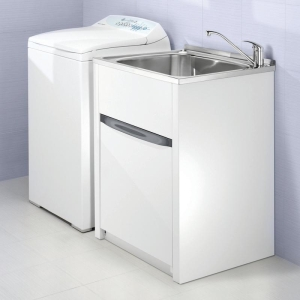 Laundry Trough Sizes : ... Finer Bathrooms Clark Utility 70L Laundry Trough and Cabinet