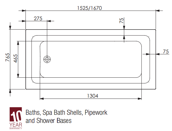 Decina Cortez Bath specifications