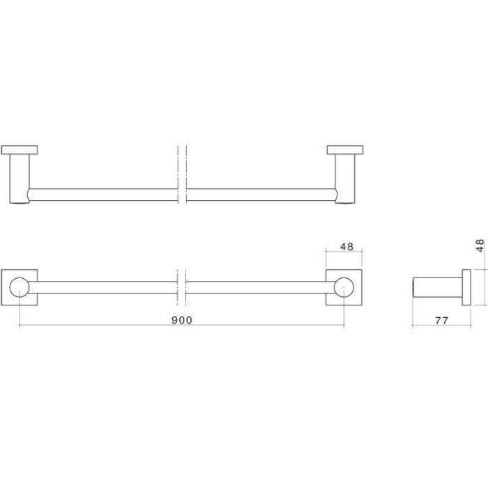 Dorf Enix Single Towel Rail 900mm specifications