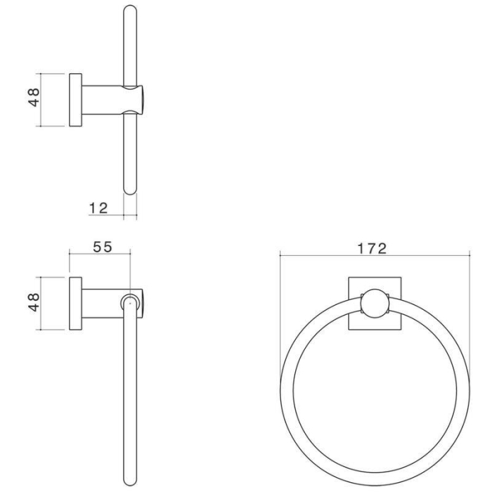 Dorf Enix Towel Ring specifications