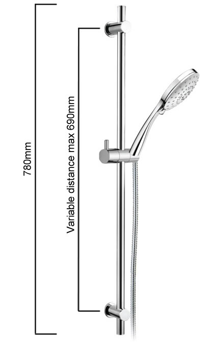 Gracott Tully VS Shower on Rail specifications
