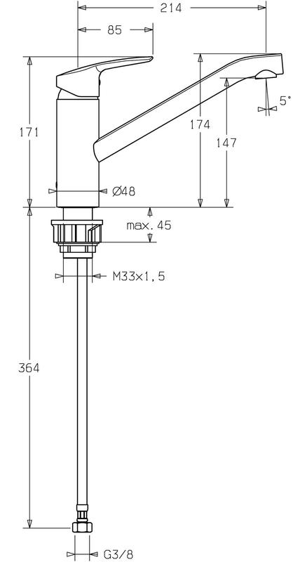 Hansa Polo Sink Mixer specifications