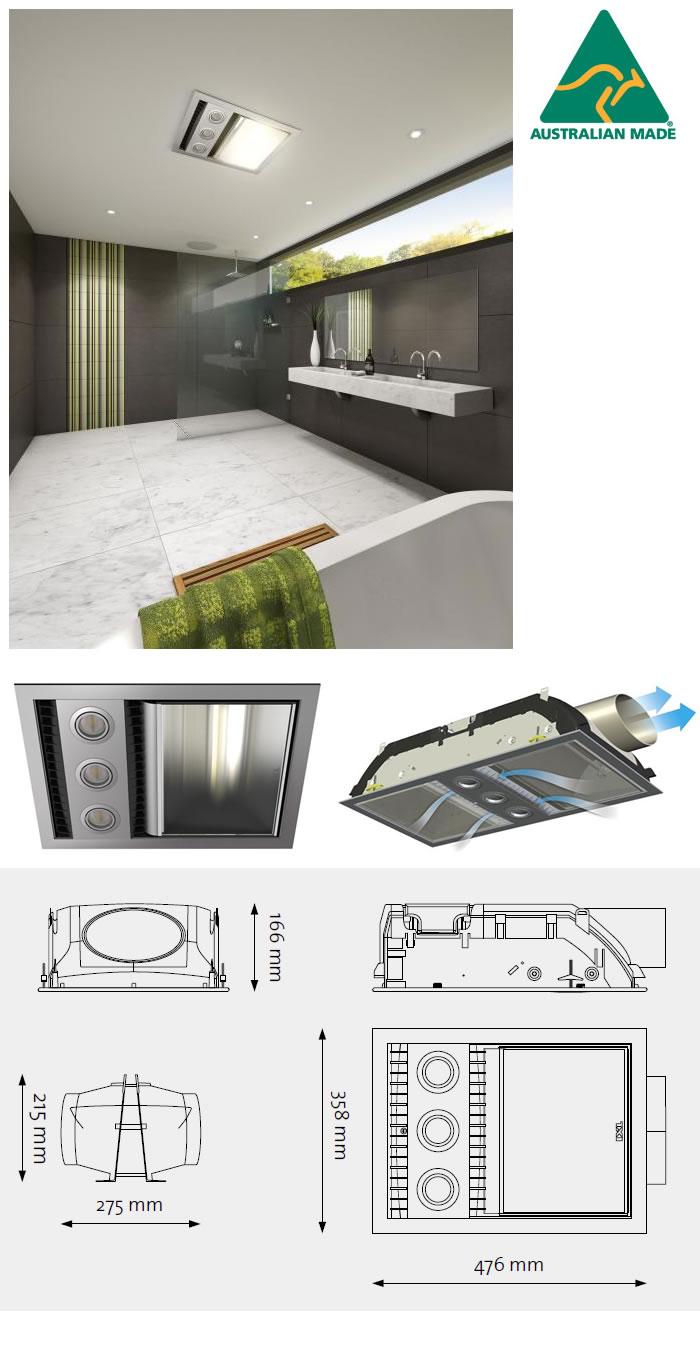 Bentons finer bathrooms ixl tastic neo single heat vent light ixl tastic neo single heat vent light unit specifications mozeypictures Gallery