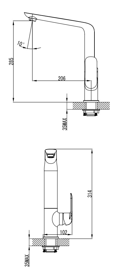 Ikon Kara Sink Mixer specifications