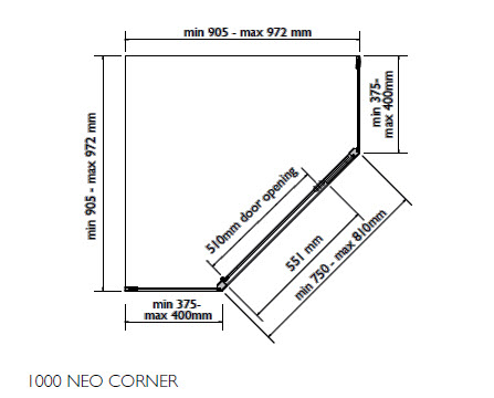Benton S Finer Bathrooms Linea Lido Neo Corner Shower System