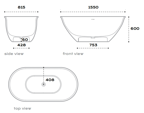 Merwe Bayou Freestanding Stone Bath specifications