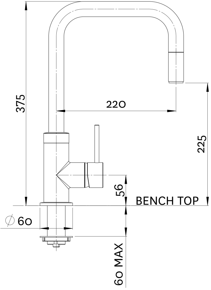 Methven Urban Pull Out Sink Mixer specifications