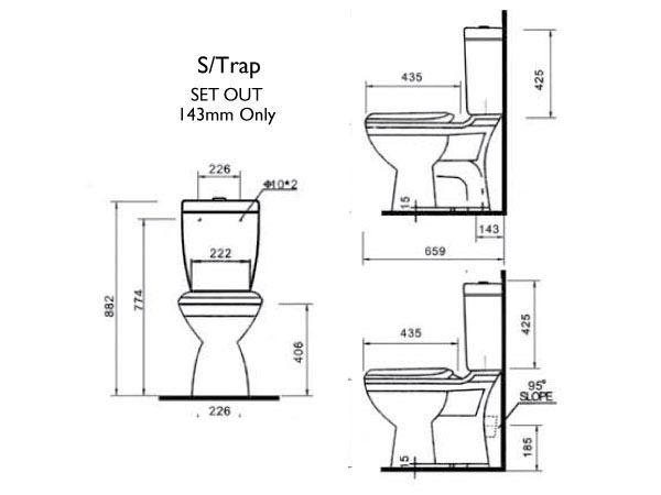 Novelli Armanti Close Coupled Toilet Suite specifications