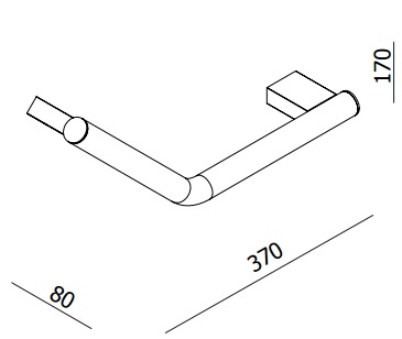 Parisi L'Hotel Angled Grab Rail specifications