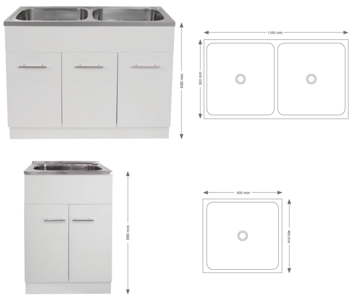 RF 45L Timber Laundry Unit specifications