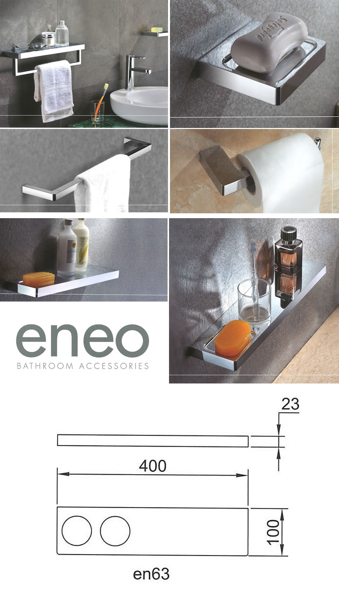 Streamline Arcisan Eneo Shelf with Double Glass Holder specifications