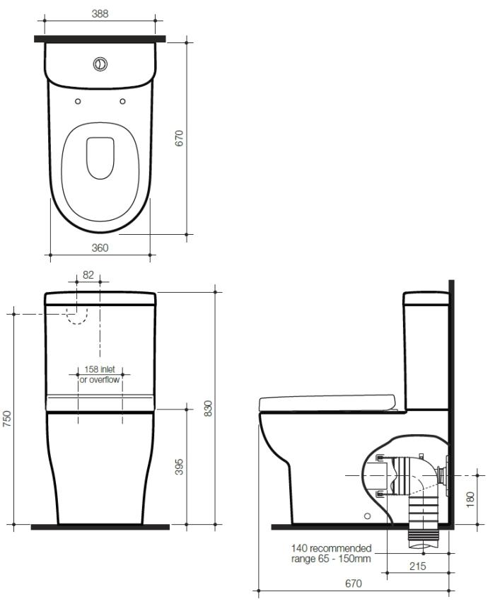Benton S Finer Bathrooms Stylus Banksia Wall Faced Close